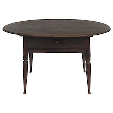 American Pub Table One Drawer Oval Top