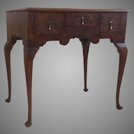Vintage Walnut Pad Foot Lowboy Queen Anne Style