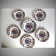Set of six English Creamware Plates.