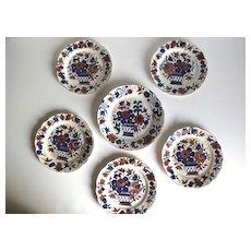 Set of six English Creamware Plates.