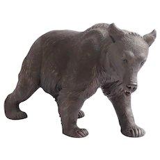 Vintage Black Forest Large Carved Walking Bear