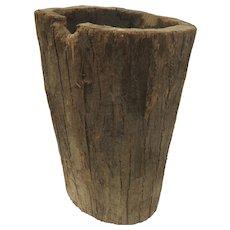 Italian Hand Hewn Hollowed Out Tree Trunk Log Wood Bin