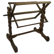 French Yarn Winder Doweled Construction Country Primitive