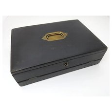 Gentleman's  Leather Letter Writing Box