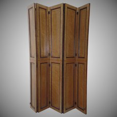 "Bird's Eye Maple Hinged Screen Room Divider 43"" by 44"""