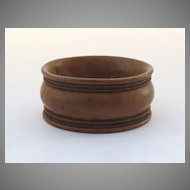 Yew Wood Treen Napkin Ring