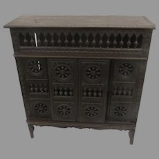 French Brittany Doll Cabinet Armoire
