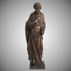 Early 19th Century Large French Carved Sculpture of a Disciple