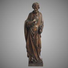 Early 19th Century Very Large French Carved Sculpture of a Disciple