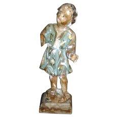 Italian 18th Century Polychrome Carved Nino Dios