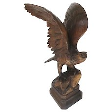 Black Forest Walnut Eagle Great Carving