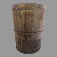 Late 19th Century European Wood Bucket with Iron Straps