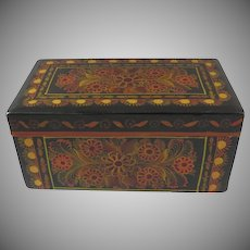 Vintage Delightful Painted Mexican Hinged Box Mexico