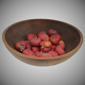 Vintage American Turned Large Wooded Dough Bowl