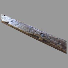 Delicate 19th Century Carved Distaff Folk Art Stick