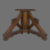 Pair or Table Pedestal Base Arts and Crafts Mission Mortise Tendon Pair Console Tables