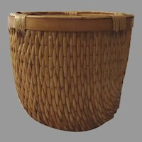 Small Vintage Willow Chinese Storage Basket