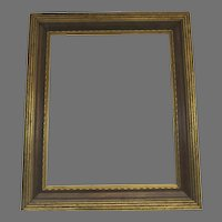Robust Vintage French Gilt Reeded Picture Frame