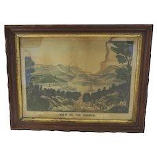 Vintage Carved Walnut Gilt Slip Frame with Print