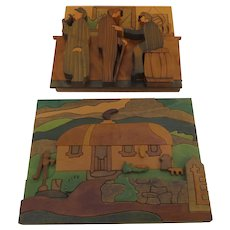 Puckane Community Crafts carved wood vignettes handmade in Tipperray, Ireland by Kattileain Healy and Colette Hogan