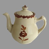 Vintage Pottery Sarreguemines Teapot Country Kitchen