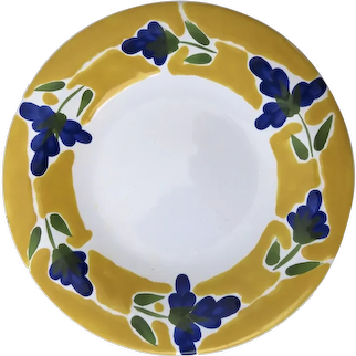 Set of 8 Dansk St. Tropez Floral Pattern Plates