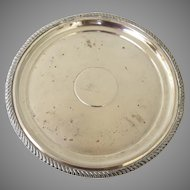 """Early Sheffield Footed Fused Plated Footed 8"""" Salver Gadrooned Edge"""