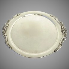 Vintage Silver Plate Round Tray