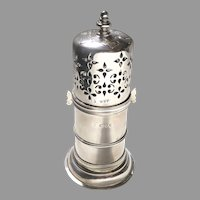 19th Century English Sterling Silver Sugar Caster London