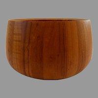Large Vintage Mid Century Dansk Walnut Wood Bowl