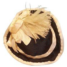 """French Fashion Silk Riding Bonnet, 6-7"""""""