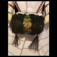 Feather Muff for French Fashion ~ Artist-Made, Cherie's Petite Boutique