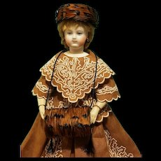 Feather Muff & Bonnet for French Fashion, Artist-Made - Cherie's Petite Boutique