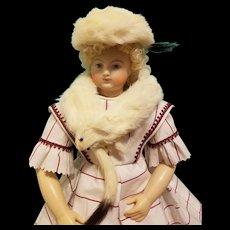 Vintage Fur Ermine Wrap & Hat ~ Artist Made, Cherie's Petite Boutique