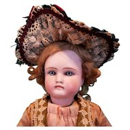 "Straw Lady's Bonnet for French Fashion or Bebe, 6-7.5"" Head ~ Artist-Made, Cherie's Petite Boutique"