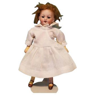 """Tiny 5"""" Bisque-Headed German Doll"""