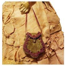 Tiny Purse & Calling Cards for French Fashion or All Bisque ~ Artist-Made, Cherie's Petite Boutique