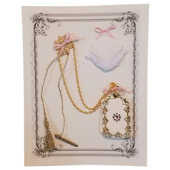 Dance Card & Hankie for French Fashion ~ Artist-Made, Cherie's Petite Boutique