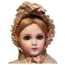 """Silk & Lace Bebe Bonnet for 8-8.5"""" Head ~ Artist-Made, Cherie's Petite Boutique"""