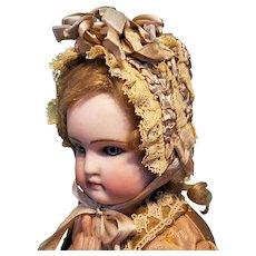 """Silk & Lace Bebe Bonnet for 6.5-7.5"""" Head ~ Artist-Made, Cherie's Petite Boutique"""