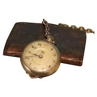 Wonderful Tiny Pocket Watch for Doll Display, French Fashion