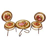 Miniature France Table Chair Set Limoges Furniture