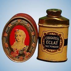 Vintage Powder Box & Talc for French Fashion Display