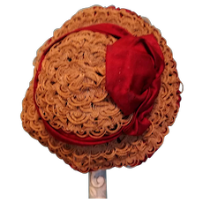 Antique Straw Doll Hat