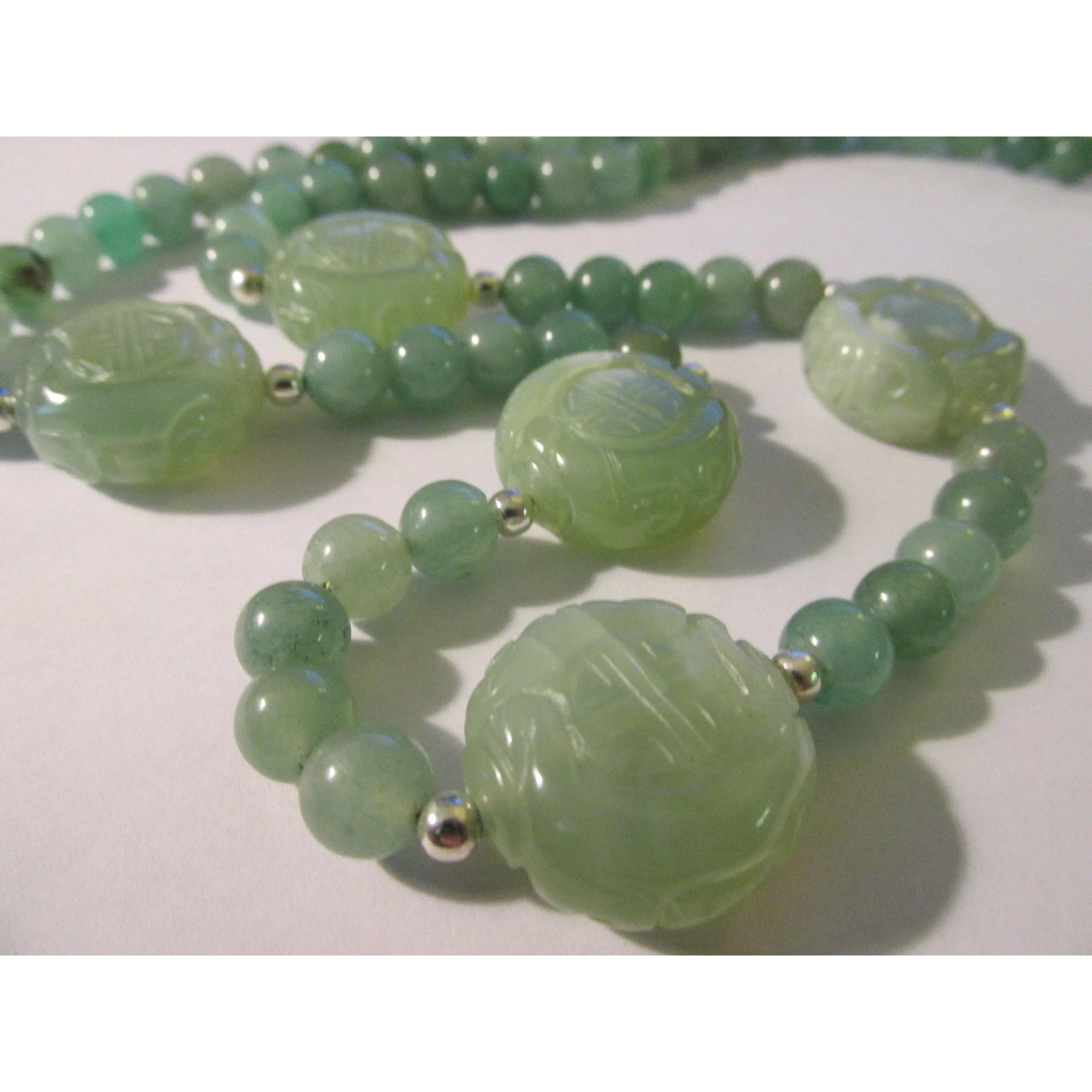 nyr green necklace christie jade mottled s polished pale a beads look bead long