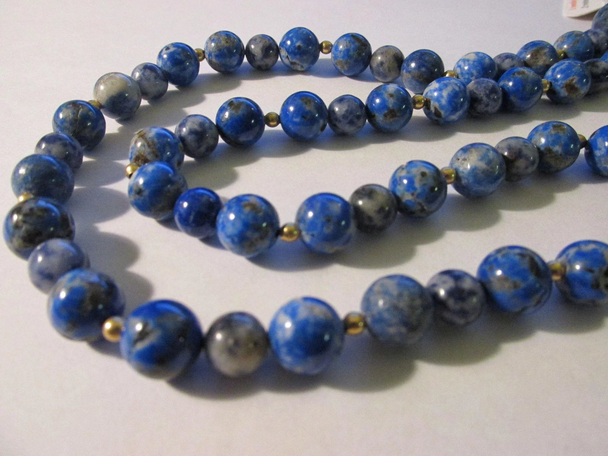 products lady crystal blue the s bead necklace vintage clear jewelry