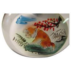 Hand Painted Wild Monkeys in Glass Snuff Bottle - Red Tag Sale Item