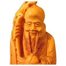 Vintage Chinese God of Longevity Figurine-Statuette