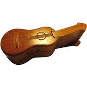 """Koa Wood Ukulele Jigsaw Puzzle Secret Trinket Jewelry Box, 6 1/4"""""""