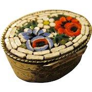 Italian Mosaic Inlay Mini Pill Box